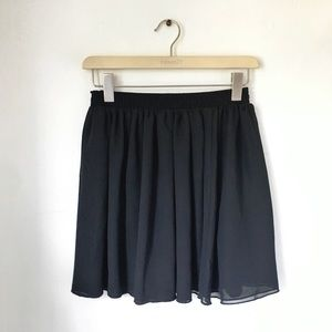 American Apparel Black Chiffon Skirt